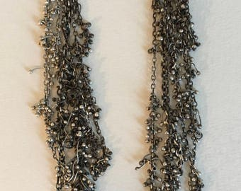 Delicate Handmade sterling silver earrings