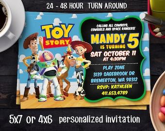 Toy Story Invitation, Toy Story Birthday Invitation, Toy Story Printable, Toy Story Photo Invitation