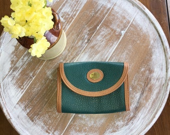 Green leather clutch or cross body bag
