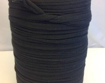 Large spool of Trapilho dark charcoal Jersey Lycra