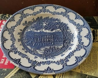 English Ironstone Blue & White Plate
