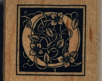 Wood stamp - letter O