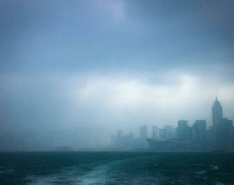 Hong Kong, view of the Star Ferry photography print fine art