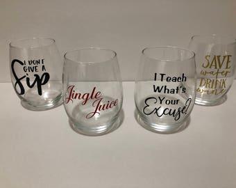 Personalized Stemless Wine Glass (21 oz.)