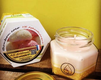 Sweet coconut candle natural aphrodisiac essential oils