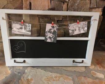 Bridal Shower Gift Vintage Rustic Picture Frame Chalkboard Window