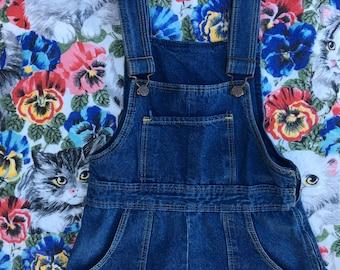 cute and petite vintage denim dress jumper XS