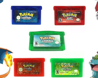 Nintendo Pokemon GBA Emerald, Ruby, Sapphire, Fire Red, Leaf Green US Version