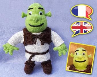 KNITTING tutorial/pattern: the ogre Shrek