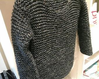"""Teddy"" knitted Kallline handmade Wool Sweater"