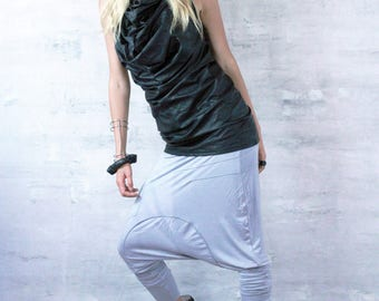 Futuristic Low Drop Crotch Harem Pant | Post Apocalyptic | Cyber Punk | Dystopian Clothing | Women's Festival | Size Sml-Lrg
