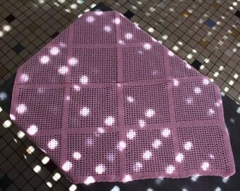 crochet pink blanket