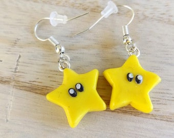 Drop Earrings Star of Mario