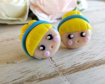 Stud Earring Princess Cinderella