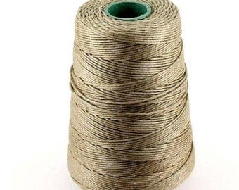 2 meters of natural braided linen thread