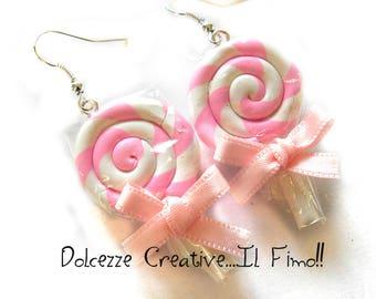 Wrapped Lollipops earrings pastel goth kawaii cute