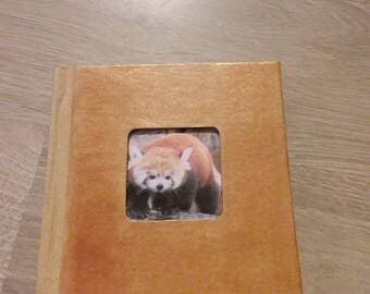 Block d illustrated Golden notes a panda