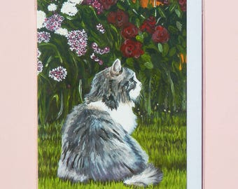 Cat A6 Notelet, Greetings Card