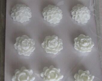 White coconut resin flowers
