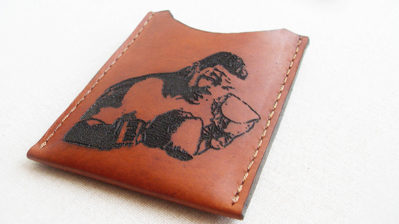 Leather walletleather card holder free monogram business card leather walletleather card holder free monogram business card holder front pocket colourmoves