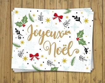 Carte Joyeux Noël et son enveloppe