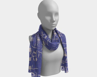 "Beautiful Scarf, Head Scarf, ""Design 13.0141, Made to order"""