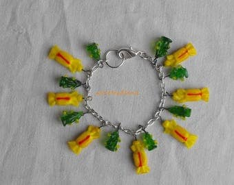 BRACEL.0200 glass beads charm bracelet