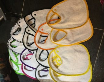 Sold individually baby bibs