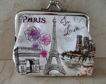 Paris wallet retro vintage 10 x 10 cm atmosphere couture