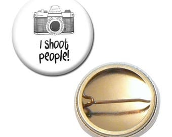 Badge 25 mm - camera Photo photography I shoot People