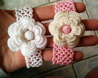 Handcrafted crochet 100% cotton custom headband