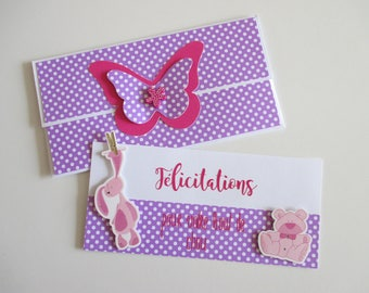 Card for baby girl or baby shower