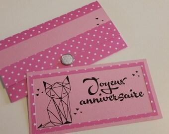 "Card or door cheque ""birthday"""