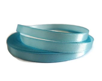 6 mm blue satin ribbon