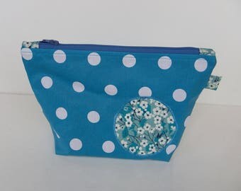 Toiletry bag or zippered makeup woman or girl