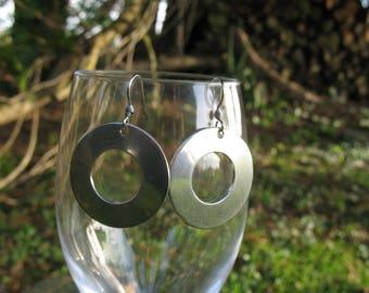 Earrings ' steel round ears