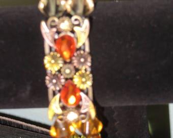 Multi Topaz Flower Bracelet