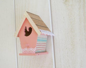 Decorative standing or wall mounted birdhouse