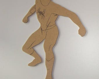 MDF wooden Spiderman has customize 25 x 15 cm approximately