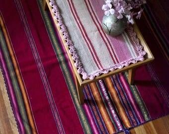 HACIENDA TABLECLOTH IN ALPACA-SHADES OF ROSES COLLECTION