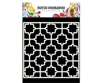 Dutch Doobadoo Mask Art Tile new stencil