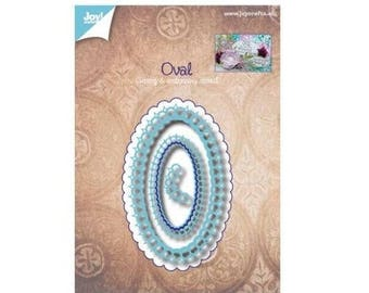 Die cut oval new Crafts Joy