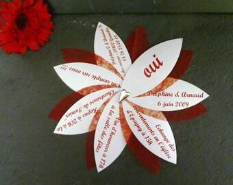Set of 50 invitations with envelope original wedding