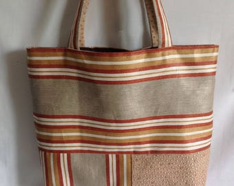 """Assembled"" linen and cotton shoulder bag"