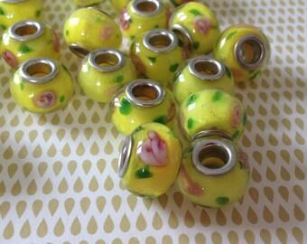 2 x glass of Murano / Lampwork European beads handmade
