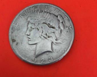 1923 D Peace Silver Dollar Liberty Head Circulated Nice!