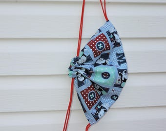 Mickey Mouse quilt drawstring sack