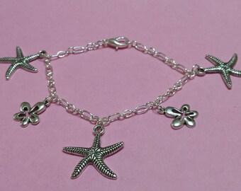 """Starfish"" charm bracelet"