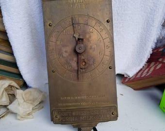 Set of 5 antique scales