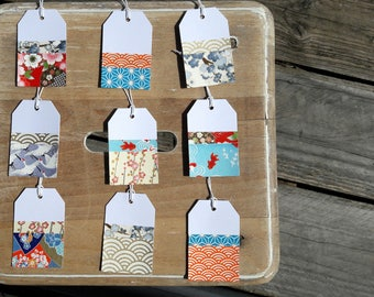 Japanese inspired tags - large size